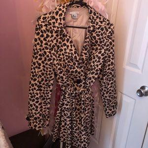 Jackets & Blazers - Leopard lightweight trench jacket
